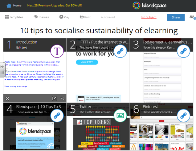 image of Blendspace - digital presentation
