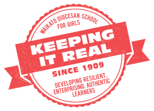 "logo for school them of the year ""Keeping it Real"""